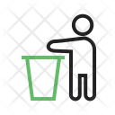 Throwing Litter Clean Icon
