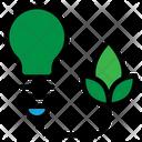 Clean Energy Blub Clean Electric Icon