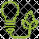 Clean Energy Blub Icon