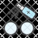 Disinfection Eyeglasses Hygiene Icon