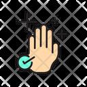 Covid Clean Hand Virus Icon