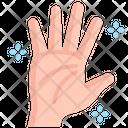Clean Hand Palm Gesture Icon