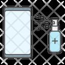 Disinfection Smartphone Hygiene Icon