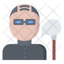 Cleaner Man Mop Icon