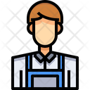 Cleaner Worker Washer Icon