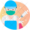 Male Cleaner Vaccination Icon