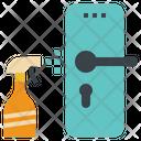 Cleaning Door Knob Icon