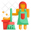 Housekeeping Cleaning Mop Icon