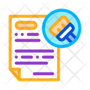 Cleaning Agreement Icon