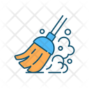 Sweeping Broom Cleaning Icon