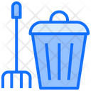 Cleaning Dustbin Brush Icon