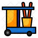 Cleaning Cart Janitor Clean Icon