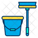 Mop And Bucket Mop Bucket Icon