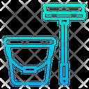 Mop And Bucket Mop Bucket Icon