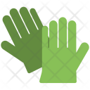 Gloves Green Rubber Icon