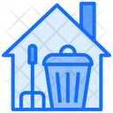 Cleaning Home Dustbin Brush Icon