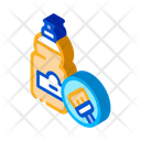 Liquid Bottle Cleaning Icon