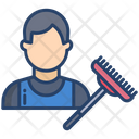 Cleaning Man Sweeper Sweepering Icon