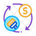 Cleaning Cycle Money Icon