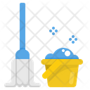 Cleaning Mop Spin Icon