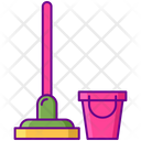 Cleaning Service Mop Bucket Icon