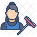Cleaning Woman Icon