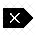 Clear Tag Label Icon