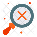 Clear Cross Bad Review Icon