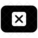 X Keyboard Button Icon