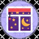 Clear Night Starry Night Nighttime Icon