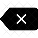 Clear tag Icon