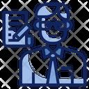 Iclerk Clerk Profession Icon