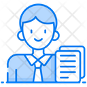 Clerk Bookkeeper Administrator Icon