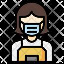 Clerk Shop Assistant Professions Icon