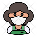 Clerk Avatar Woman Icon
