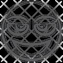 Emoticon Clever Emoji Smart Emoji Icon