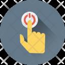 Press Finger Gesture Icon