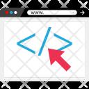 Click Code Coding Icon