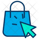 Bag Arrow Handbag Icon