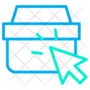 Basket Arrow Handbag Icon
