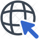 Website Global Click Icon