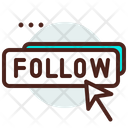 Click Follow Follow Button Icon