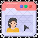 Website Profile Web User Click Profile Icon