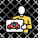 Client Self Car Icon