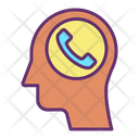 Ihead Phone Client Call Customer Call Icon