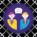 Client Meeting Conversation Communication Icon