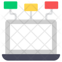 Client Server Server Hosting Internet Sharing Icon
