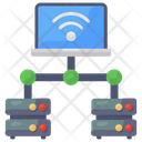 Computer Network Client Server Database Network Icon