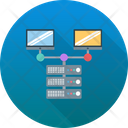 Client Server Computer Sharing Hosting Server Icon