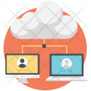 Cloud Computing Client Icon